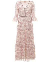 Le Sirenuse Bella コットンボイルドレス - ピンク