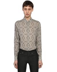 Saint Laurent - Yves Paisley Printed Wool Shirt - Lyst