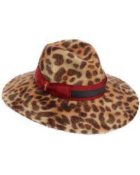 Borsalino - Sophie Leopard Print Brimmed Felt Hat - Lyst