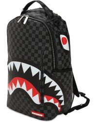 "Sprayground - Rucksack ""black Checkered Shark In Paris"" - Lyst"