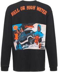 """Alchemist T-shirt Aus Baumwolle """"hell Or High Water"""" - Schwarz"""