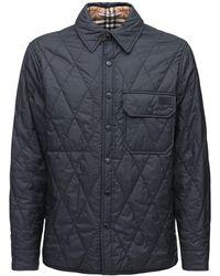 Burberry リバーシブルキルテッドシャツジャケット - ブラック