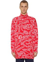 Balenciaga Oversized Strickpullover Aus Wolle - Rot