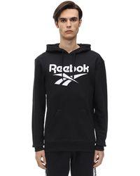 Reebok Cl F Vector Jersey Sweatshirt Hoodie - Black