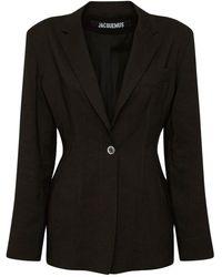 Jacquemus ウールブレンドスーツジャケット - ブラック