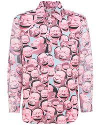 Comme des Garçons Yue Minjun コットンポプリンシャツ - ピンク
