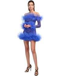 Zuhair Murad - Abito In Tulle Con Paillettes - Lyst