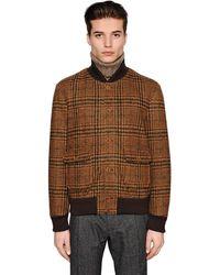 Lardini Куртка-бомбер Из Хлопкового И Шерстяного Джерси - Коричневый