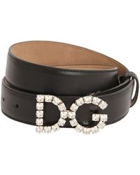 Dolce & Gabbana - Кожаный Ремень 25мм - Lyst
