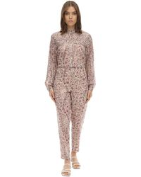 Étoile Isabel Marant Liddy Cotton Jumpsuit - Pink