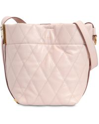 Givenchy Mini Gv Quilted Leather Bucket Bag - Pink