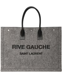 Saint Laurent Rive Gauche レザートートバッグ - グレー