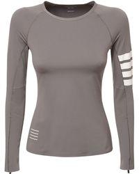 Thom Browne ストレッチジャージーtシャツ - グレー