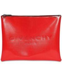 Givenchy Pochette Avec Logo - Rouge