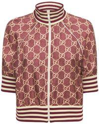 Gucci Куртка На Молнии Из Шелковой Саржи - Многоцветный