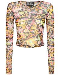 Versace Jeans Couture Топ С Принтом - Черный