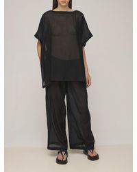 AG Jeans モスリン&ポプリンケープトップ - ブラック