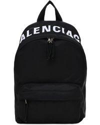 Balenciaga Рюкзак Из Нейлона С Принтом Логотипа - Черный