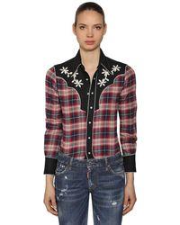 DSquared² Rodeo コットンチェックシャツ - レッド