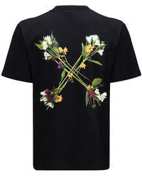 Off-White c/o Virgil Abloh - T-shirt Aus Jersey Mit Pfeildruck - Lyst