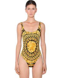 Versace Купальный Костюм Из Лайкры С Принтом - Многоцветный