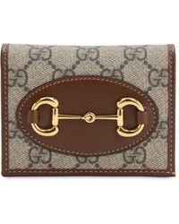 Gucci Бумажник 1955 Horsebit Gg - Коричневый