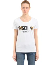 Moschino | Teddy Bear Logo Cotton T-shirt | Lyst