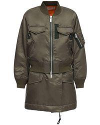 Sacai Короткое Пальто Из Нейлона - Многоцветный