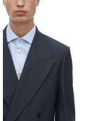 Gucci Jackett Aus Wollmischdrillich - Blau