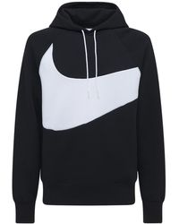 "Nike Pullover-hoodie Aus Technofleece ""swoosh"" - Schwarz"