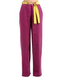 AALTO - High Waist Wide Leg Cotton Denim Jeans - Lyst