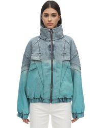 Stella McCartney デニムウインドブレーカージャケット - ブルー