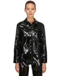 Calvin Klein ビニール トラッカージャケット - ブラック