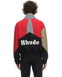 Rhude Giacca In Nylon - Rosso