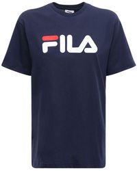 Fila T-shirt Aus Baumwolle Mit Logo - Blau