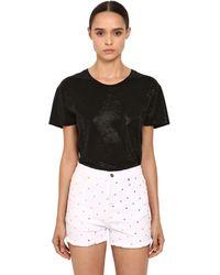 Alexandre Vauthier Crystal Embellished Jersey T-shirt - Black