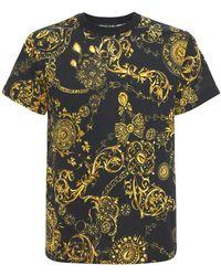 Versace Jeans Couture Футболка Из Хлопка С Принтом - Многоцветный