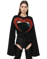 Y. Project Sudadera de algodón con corazón - Negro