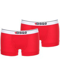 DSquared² - Pack Of 2 Cotton Jersey Boxer Briefs - Lyst