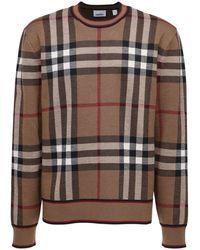 Burberry メリノウールニットセーター - ブラウン