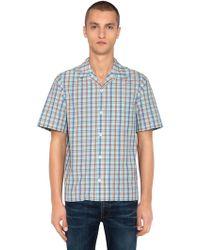 Prada - Camicia Bowling In Popeline Di Cotone Check - Lyst