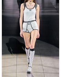 Dolce & Gabbana Топ Из Хлопкового Джерси С Аппликацией - Белый