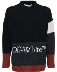 Off-White c/o Virgil Abloh Свитер Из Шерсти - Черный