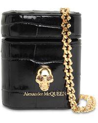 Alexander McQueen Кожаный Чехол Для Air Pod - Черный