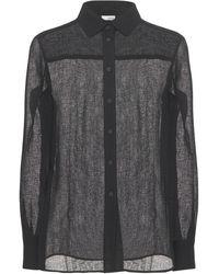 Lardini Dan Classic シアーシャツ - ブラック