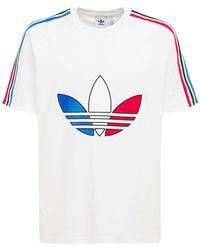 """adidas Originals T-shirt Aus Baumwolljersey """"trefoil"""" - Weiß"""
