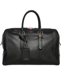 Thom Browne Pebbled Leather Duffle Bag - Black