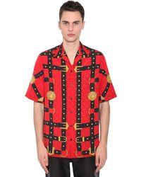 Versace Medusa Harness Print Shirt - Red