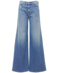 DIESEL Akemi Flared Cotton Denim Jeans - Blue