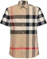Burberry Клетчатая Рубашка С Короткими Рукавами - Многоцветный